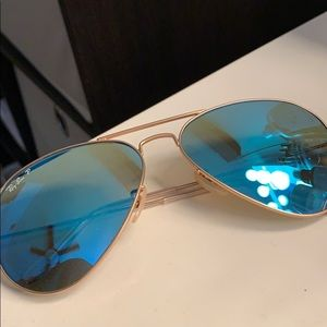 Ray bans aviator large metal